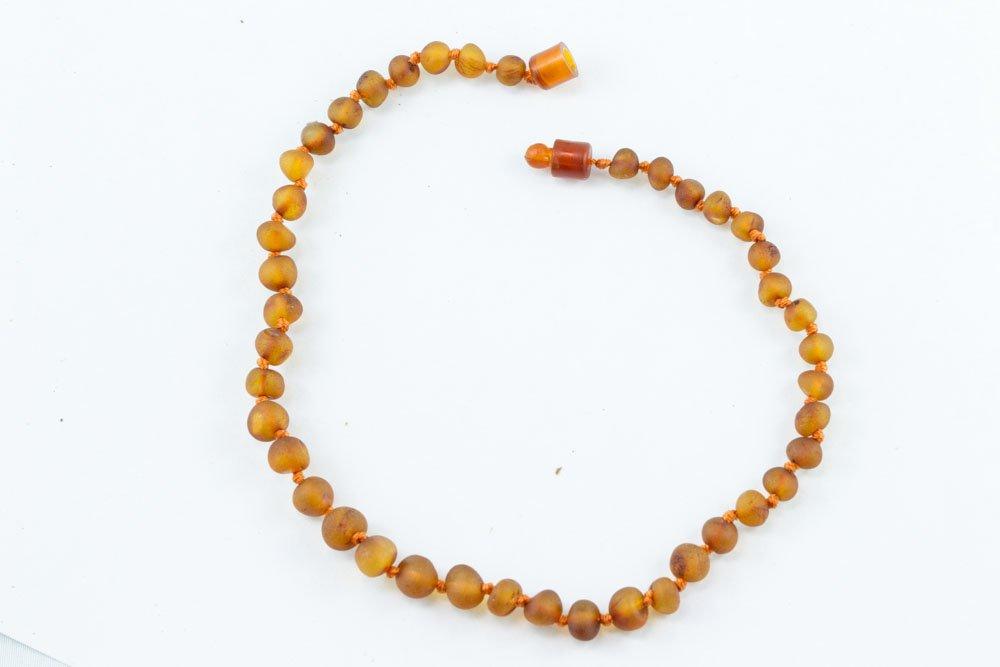 Healing hazel amber necklace baby raw cognac for Baby jewelry near me